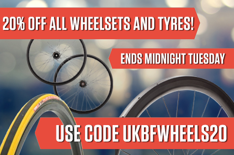 20% off Wheelsets and Tyres until Midnight GMT Tuesday