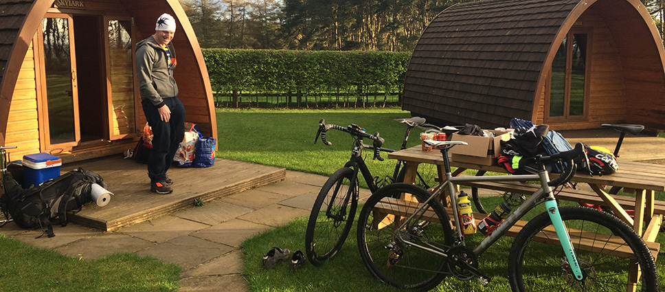 on-one glamping gravel advetnure